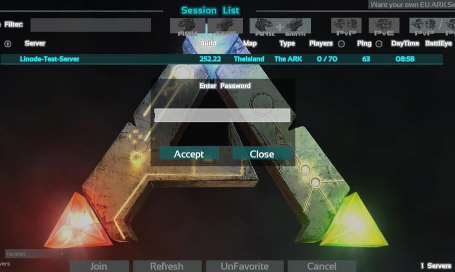 Dedicated ark server